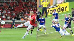"""Nilton """"repete"""" golaço dos tempos de Cruzeiro e já vira símbolo da era Argel #globoesporte"""