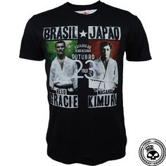 Roots of Fight Gracie v Kimura - Black Mma Store, Roots Of Fight, Mens Tops, T Shirt, Black, Supreme T Shirt, Tee Shirt, Black People, Tee