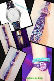 The Sister Act: DIY : Glitter watch by DKNY