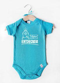 "Babybody blau ""Kleiner Entdecker"" - nähfein Onesies, Clothes, Fashion, Baby Body, Kawaii, Blue, Unique, Simple, Outfits"