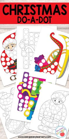 Free Christmas Do a Dot Printables - Easy Peasy Learners Christmas Activities For Kids, Preschool Christmas, Free Christmas Printables, Craft Activities For Kids, Christmas Themes, Free Printables, Merry Christmas, Kids Christmas Coloring Pages, Montessori Art