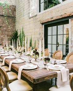 "This Dreamy Wedding Tablescape Gives New Meaning to ""Rustic Chic"" 