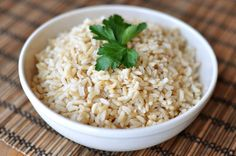Baked Brown Rice. Good flavor, but a little dry.  I would add 1/2 t of salt next time I make this recipe with broth.