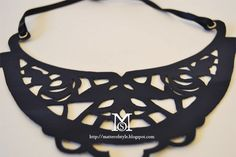 leather cut out necklace