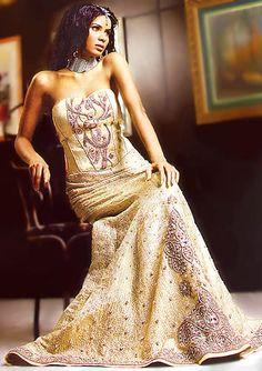 BW8180 Champagne Mermaid Lehenga Wedding Dress Tailors Virginia, Washington D.C, Desi Tailors Virginia Bridal Wear