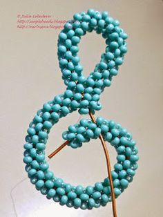 Beading for the very beginners: Treble clef