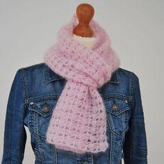 shawltje in de waaiersteek met Drops Kid-Silk, sup Crochet Shawls And Wraps, Crochet Scarves, Crochet Clothes, Knit Crochet, Crochet Hats, Drops Kid Silk, Knitting Patterns, Crochet Patterns, Crochet Fashion