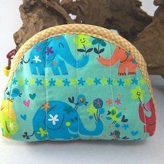 Wallet Elephant Fabric Zipper Handicraft Bag Purse Coin Card Cosmetic Souvenir