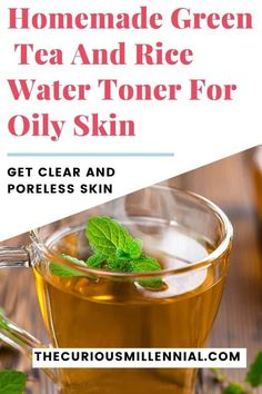 Toners are a must regarding oily skin, as that helps dissolve excess olive oil and cleanse the epidermis. Try this DIY green tea herb toner for oily epidermis today! Oily Skin Remedy, Home Remedies For Skin, Oily Skin Care, Healthy Skin Care, Skin Care Tips, Acne Remedies, Homemade Toner, Homemade Skin Care, Homemade Facials