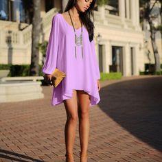 Light purple shift dress Beautiful open shoulder shift dress! Pre loved in good condition! Dresses