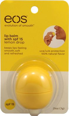 Eos lip balm lemon drop, great for the summertime!