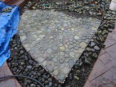 Stone leaf mosaic