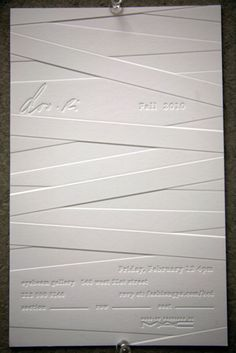 fashion show vip invites as stationery  inspiration {Doo.Ri 2010 Fashion Show Invitation}