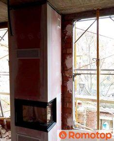 Когда у вас еще нет окон и дверей, но к уюту вы уже готовы. Со стройкой все понятно, теперь ждем фото у камина 😉 Фото @chapelin_25 #камин #ромотоп #romotop #fireplace Windows, Ramen, Window