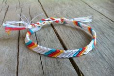 Items similar to Candy Stripe Primary Colors Indian Indie Geometric Friendship Bracelet on Etsy - Homemade Bracelets, Diy Bracelets Easy, Summer Bracelets, Cute Bracelets, Thread Bracelets, Embroidery Bracelets, Beaded Bracelets, String Bracelets, Necklaces