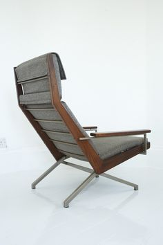 Rob Parry; Teak and Lacquered Steel lounge Chair for Gelderland, 1950s/60s.