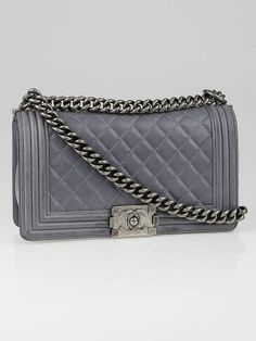 Chanel Lavender Quilted Lambskin Leather Medium Boy Bag