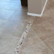 broken tile transition