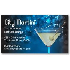 This is a great business card for a lounge. Or for whatever else you can think of. The text is easy to change.
