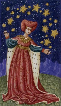 XVII. The Star: Medieval Tarot