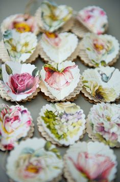 Paper garland Peony and Roses SCALLOPS for wedding by LaMiaCasa