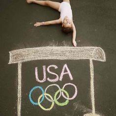 Olympic chalk photo