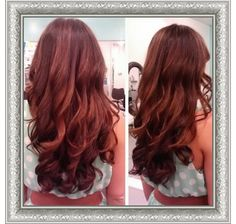 Gorgeous soft balayage highlights on long red hair! Now thats what we call beautiful mermaid hair! #salonheadcandy
