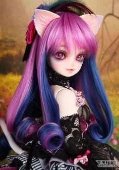 bjd dolls, menina gata é linda de mais! ;)
