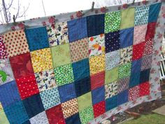 Vintage Patchwork Quilt by bmegdesigns on Etsy, $85.00