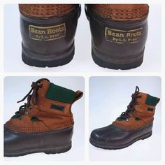 VTG LL Bean Boots 8m Women's Duck Hunting G2 GForce Compound Soles Vintage #LLBean #Rainboots #Hunting