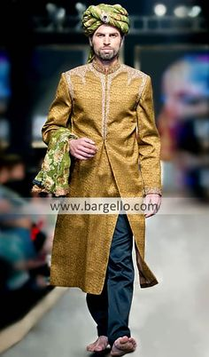 Exclusive velvet sherwani asifa and nabeel collection oslo for Indian wedding dresses new york