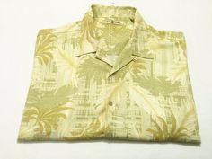 Tommy Bahama XXL Men's Silk Short Sleeve Floral Camp Shirt 2XL Hawaiian #TommyBahama #ButtonFront