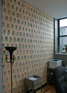 Before & After: Dolan's DIY Luan Wood Wallcovering