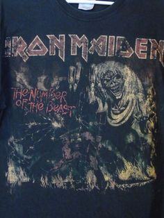 1982-3 Iron Maiden Number Of The Beast Demon World Tour USA T-Shirt