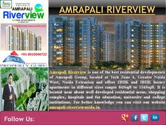 http://www.amrapali-riverviewnoida.in Amrapali Riverview is new upcoming project of Amrapali group after lots of successful projects like Amrapali Green homes, Amrapali village and many more. Amrapali Riverview is designed around your requirement, fabulous view and luxury life, making sure that you can enjoy an outstanding living. It is located at greater noida west and offers 2, 3 bhk luxury apartments in great price which sizes range from 845sqft to 1145sqft.