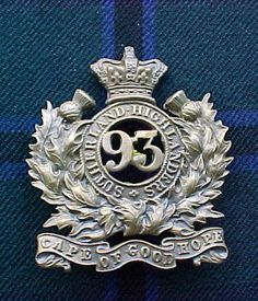 """The 93rd (Sutherland Highlanders) Regiment of Foot or's Feather Bonnet Badge. This is the early badge that was worn before Balaclava(1855) and probably superceded by the badge that incorporates the Battle honour """"Balaclava""""."""