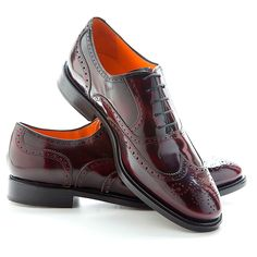 HOLMES burgundy Oxfords @beatnikshoes - Handmade in Spain - Worldwide shipping by UPS. € 159.