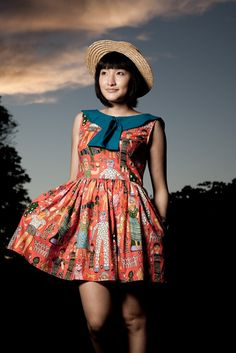 Indian Summer Dress by neneee on Etsy