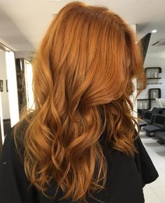 Long Wavy Red Hairstyle