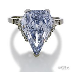 Natural fancy colored diamonds are rare, & blue diamonds are highly prized by discriminating collectors. Like me ~ I really want one!!