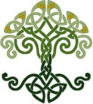"""Celtic Dara Knot. The name Dara comes from """"doire,"""" the Irish word for """"oak tree."""" The knotwork is likened to that of the root system of the oak tree. Oaks were considered sacred to the Celts, particularly the Druids who could translate the language of trees. The oak represented: Power Destiny Wisdom Strength Endurance Leadership"""