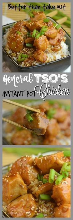 Better than Take Out General Tso's Instant Pot Chicken