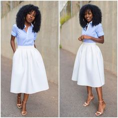falda skirt white blanca