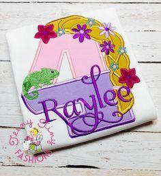 Rapunzel Birthday Party Shirt 4th Tangled Princess