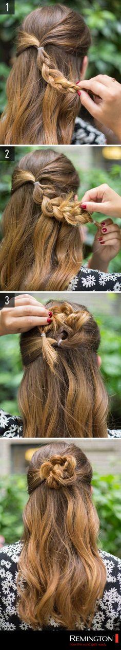 Dale un toque sencillo y femenino a tu look que además te permitirá lucir elegante. # hair #hairstyle #DIY #style #woman #like #cool #nice