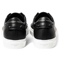 Givenchy Urban Leather Tennis Sneakers. Made in Portugal.