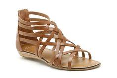 Damessandalen casual - Oditi Lucky in Bruin Leer van Clarks schoenen