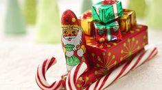Chocolate  Candy Cane Santa Sleigh