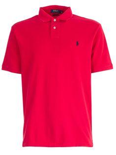 Polo Ralph Lauren Logo Embroidered Polo Shirt In Rlred Embroidered Polo Shirts, Dior Perfume, Camisa Polo, School Uniform, Men's Clothing, Dream Cars, Polo Ralph Lauren, Short Sleeves, Menswear