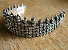 Vintage Hallmarked Solid Silver Gem Set Wedding Tiara 1976 | eBay